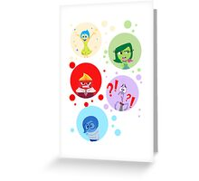 Inside Out characters Greeting Card