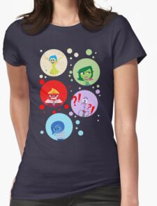 Inside Out characters Womens Fitted T-Shirt