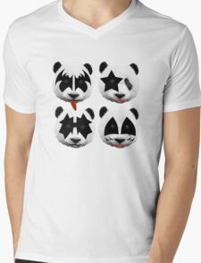 panda kiss  Mens V-Neck T-Shirt
