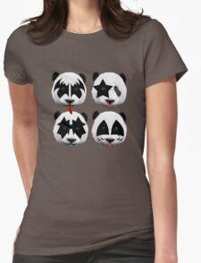 panda kiss  Womens Fitted T-Shirt