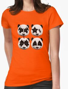 panda kiss  Womens Fitted T-Shirt
