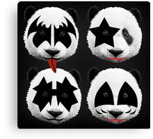 panda kiss  Canvas Print