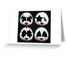 panda kiss  Greeting Card