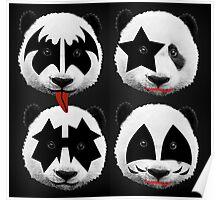 panda kiss  Poster