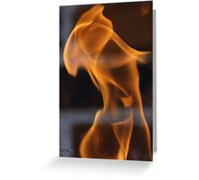 Flame Dancer Greeting Card
