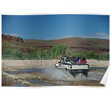 Locals enjoying the Finke River, Central Australia Poster