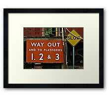 Way Out Sign Framed Print