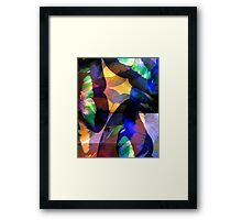 Butterfly-Wing Abstraction in Rainbow Colors #1 – April 5, 2010   Framed Print