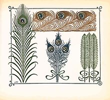 Maurice Verneuil Georges Auriol Alphonse Mucha Art Deco Nouveau Patterns Combinaisons Ornementalis 0013 by wetdryvac