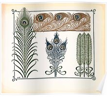 Maurice Verneuil Georges Auriol Alphonse Mucha Art Deco Nouveau Patterns Combinaisons Ornementalis 0013 Poster