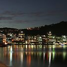 Wellington New Zealand at night by Andrew Bennett