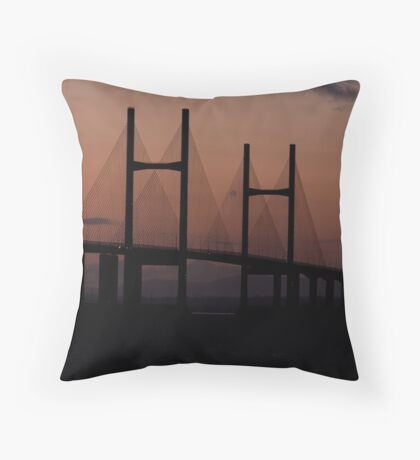 Sunset Bridge Throw Pillow