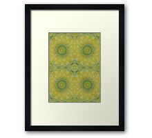 Butter yellow with Cilantro Framed Print