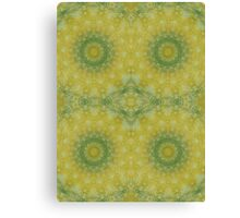 Butter yellow with Cilantro Canvas Print