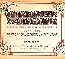 Maurice Verneuil Georges Auriol Alphonse Mucha Art Deco Nouveau Patterns Combinaisons Ornementalis 0000 Title Plate by wetdryvac