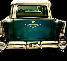 Vintage 1957 Chevy Station Wagon by ArtbyDigman