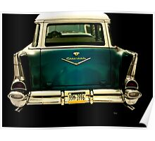 Vintage 1957 Chevy Station Wagon Poster