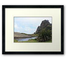 Karekare Beach, New Zealand Framed Print