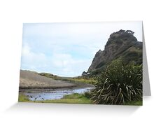 Karekare Beach, New Zealand Greeting Card