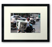 SaigonTraffic Framed Print