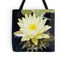 White Water Lily and Dragonfly Tote Bag
