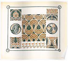 Maurice Verneuil Georges Auriol Alphonse Mucha Art Deco Nouveau Patterns Combinaisons Ornementalis 0019 Poster