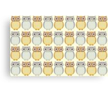 Owls In Pattern Canvas Print