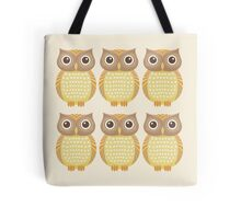 Sextuplet Owls Tote Bag