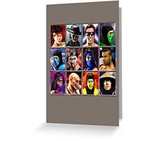 Mortal Kombat 2 Character Select Greeting Card
