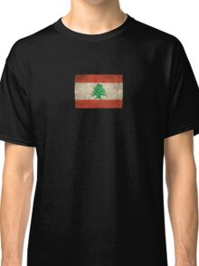 Old and Worn Distressed Vintage Flag of Lebanon Classic T-Shirt