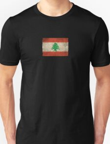 Old and Worn Distressed Vintage Flag of Lebanon Unisex T-Shirt