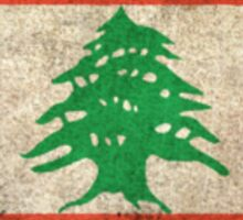 Old and Worn Distressed Vintage Flag of Lebanon Sticker