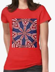 American Flag Kaleidoscope 1 Womens Fitted T-Shirt