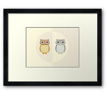 Two Owls Framed Print