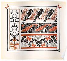 Maurice Verneuil Georges Auriol Alphonse Mucha Art Deco Nouveau Patterns Combinaisons Ornementalis 0024 Poster