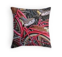 Twins - Bicycle Art By Sharon Cummings Throw Pillow