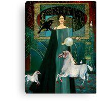 Flight of the white horses Canvas Print