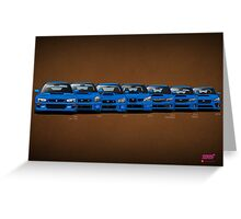 Subaru WRX STi generations Greeting Card