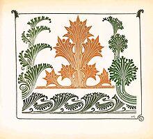 Maurice Verneuil Georges Auriol Alphonse Mucha Art Deco Nouveau Patterns Combinaisons Ornementalis 0015 by wetdryvac