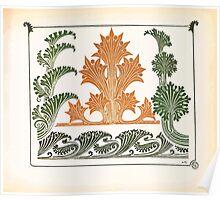Maurice Verneuil Georges Auriol Alphonse Mucha Art Deco Nouveau Patterns Combinaisons Ornementalis 0015 Poster