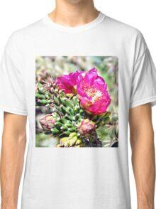 Fuscia Pink Cactus Flower Bloom Classic T-Shirt