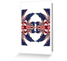 American Flag Polar Coordinate Abstract 1 Greeting Card