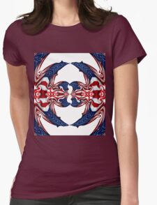 American Flag Polar Coordinate Abstract 1 Womens Fitted T-Shirt