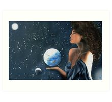 """Miss Universe"" Water Color Airbrush Art Print"