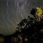 Starstrails over the Murray River by Peter Rattigan