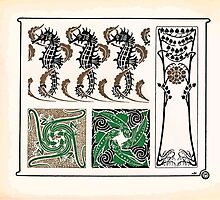 Maurice Verneuil Georges Auriol Alphonse Mucha Art Deco Nouveau Patterns Combinaisons Ornementalis 0018 by wetdryvac