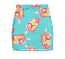 watercolor icecream popsicle seamless pattern Mini Skirt