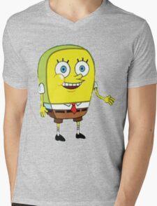 normal spongebob Mens V-Neck T-Shirt