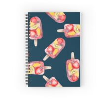 watercolor icecream popsicle seamless pattern Spiral Notebook
