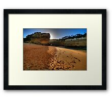 Light Over The Edge -  Loch Ard Gorge, Great Ocean Road, Victoria Australia - The HDR Experience Framed Print